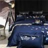 Bộ chăn ga gối cotton lụa satin cao cấp họa tiết thêu CZN 08-BIRD - Cozino