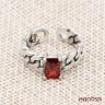 Nhẫn bạc Thái handmade đính đá Hadosa