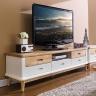 Tủ kệ tivi lớn Canna gỗ cao su - Cozino