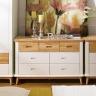 Tủ ngăn kéo Canna 7 hộc gỗ cao su - Cozino