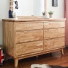 Tủ ngăn kéo ngang Ixora 6 hộc gỗ cao su - Cozino