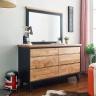Tủ ngăn kéo ngang Lantana 6 hộc gỗ cao su - Cozino