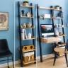 Kệ trang trí 6 tầng NB-Blue gỗ tự nhiên