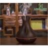 Combo máy khuếch tán tinh dầu bình hoa màu nâu FX2020 + tinh dầu sả chanh +tinh dầu bưởi + tinh dầu cam Lorganic (10ml x3) LGN0188