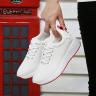 Giày nữ thể thao vải mềm sneaker trắng