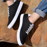 Giày nam thể thao vải mềm sneaker đen nhịp tim