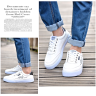 Giày nam thể thao vải mềm sneaker trắng nhịp tim