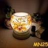 Đèn xông tinh dầu mini tặng 01 lọ tinh dầu sả chanh 5ml NuCare và 01 bóng đèn dự phòng (MN25)