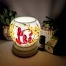 Đèn xông tinh dầu mini chữ thư pháp tặng 01 lọ tinh dầu sả chanh 5ml NuCare và 01 bóng đèn dự phòng (Lộc)