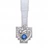 Mặt dây chuyền bạc đính đá màu xanh dương PNJSilver Fantasia ZTXMK000120