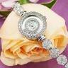 Đồng hồ nữ chính hãng Royal Crown 5308 dây đá vỏ trắng