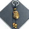 Móc khóa 12 con giáp đá mắt hổ vàng tự nhiên - Tuổi Tỵ MKTIGYTY06 VietGemstones