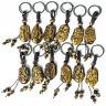 Móc khóa 12 con giáp đá mắt hổ vàng tự nhiên - Tuổi Thân   MKTIGYTHAN09 VietGemstones