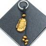 Móc khóa 12 con giáp đá mắt hổ vàng tự nhiên - Tuổi Dậu MKTIGYDAU10 VietGemstones