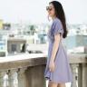 Đầm không tuổi Hity DRE076 (tím violet)