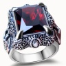 Nhẫn bạc nam 925 móng rồng đá cz Hadosa