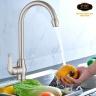 Vòi rửa chén nóng lạnh Inox SUS 304 nguyên khối Eurolife EL-T030 (Trắng vàng)