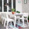 Bộ bàn ăn 6 ghế mặt gỗ  Venus - IBIE