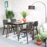 Bộ bàn ăn 4 ghế mặt gỗ Venus - IBIE