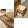 Bàn tủ trang điểm ngăn kéo Begonia gỗ cao su - Cozino