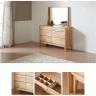 Tủ ngăn kéo Poppy 6 hộc gỗ cao su (có gương trang điểm) - Cozino