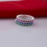 Opal_ Set sản phẩm 3 nhẫn bạc _T05