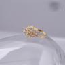 Opal_ Nhẫn bạc hoa tuyết phủ vàng _T05