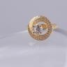 Opal_ Nhẫn bạc phủ vàng đính đá  _T05