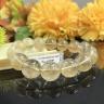 Vòng chuỗi tay phong thủy đá may mắn thạch anh tóc vàng tự nhiên 14 li V18G03