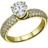 Nhẫn nữ đá kim cương nhân tạo mạ vàng 14k - NNU023