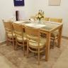 Bộ bàn ăn 6 ghế Ulsan màu antique - IBIE
