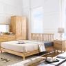 Tủ đầu giường 2 ngăn kéo NB-Natural gỗ tự nhiên