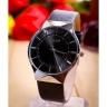Đồng hồ nữ Julius Hàn Quốc JA-577lh dây da đen