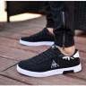 Giày nam thể thao vải mềm sneaker đen trắng