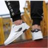 Giày thể thao nam da mềm sneaker đen trắng LT