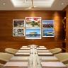 Bộ 6 tranh chủ đề Hàn Quốc cảnh sắc và ẩm thực phong phú - tranh treo phòng họp W3176