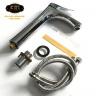 Vòi Lavabo điếu cao 30cm nóng lạnh Đồng mạ Chrome Eurolife EL-ROS03 (Trắng bạc)