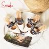 Giày nữ, giày cao gót slingback phối nơ hở gót cao 5cm erosska _ EH028 (màu nude)