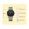 Đồng hồ nam dây kim loại chính hãng Julius Hàn Quốc JA-1164MB (bạc đen)