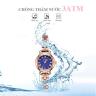 Đồng hồ nữ dây kim loại chính hãng Julius Hàn Quốc JA-1150D đồng mặt xanh