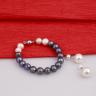 Opal - bộ chuỗi vòng tay và hoa tai ngọc trai mix 2 màu_T7
