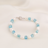 Opal - vòng tay ngọc trai trắng mix pha lê xanh biển_T7