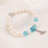 Opal - vòng tay ngọc trai trắng mix pha lê xanh biển và charm_T7