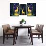 Bộ 3 tranh treo tường phòng khách chủ đề hươu nai đẹp - tranh hươu nai W3532