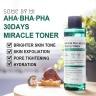 Combo toner + kem trị mụn Some By Mi AHA-BHA-PHA 30 Days Miracle Toner Cream