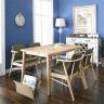 Bộ bàn ăn  4 ghế Babie gỗ cao su 1m2 - Cozino