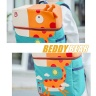 Balo BeddyBear- xanh ngọc- họa tiết hươu cao cổ-BJX-YE-002-HUOU