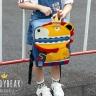 Balo BeddyBear-xanh dương đậm - họa tiết Sư Tử-BJX-YE-002-SUTU