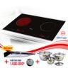 Bếp từ đôi hồng ngoại cảm ứng CANZY CZ-930H tặng hút mùi, bộ nồi nhà bếp cao cấp Fivestar