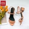 Giày nữ, giày cao gót đế vuông Erosaska cao 3cm thời trang thiết kế phối màu sang trọng EB006 (NU)